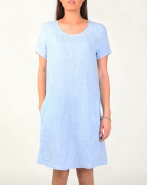 Linen Cap Sleeve Shift