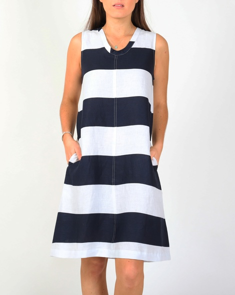 Printed stripey dress A