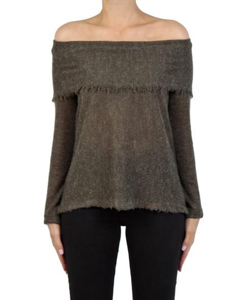 Olivia knit khaki front copy