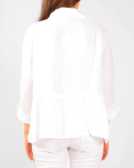 Sharah linen shirt white B copy