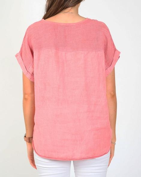 Havana linen top pink B