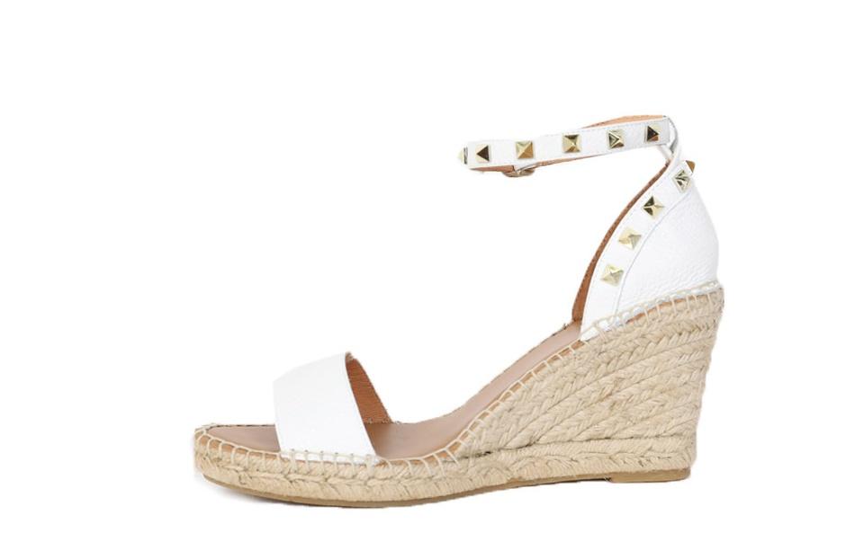 e480bb253a58 VIVA - Espadrille Wedge Sandal. VIVA white A  VIVA white B  VIVA white C ...