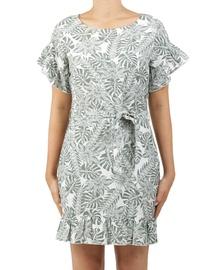 Leafy Raven Dress