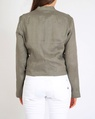Linen biker jacket sage B