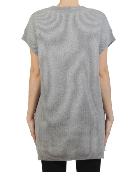 Woolly tunic knit grey back