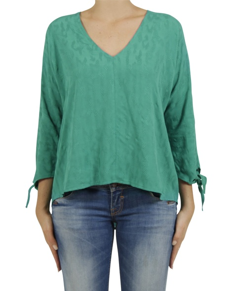embroidered  odette top green A