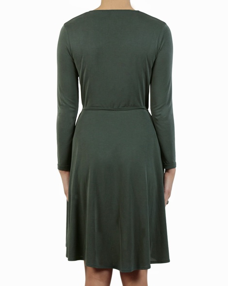 Beckham Wrap Dress kale back copy