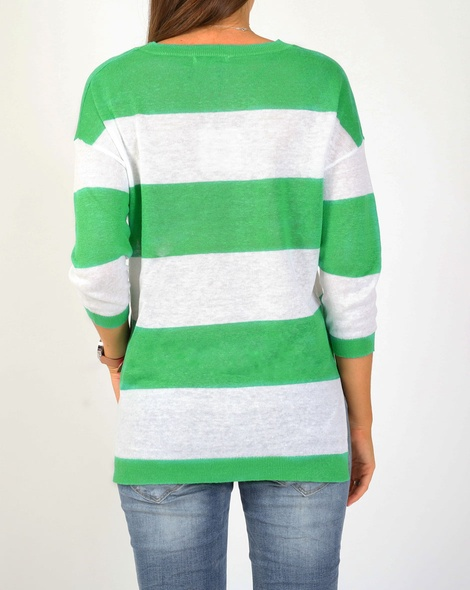 wide stripe pull over green B