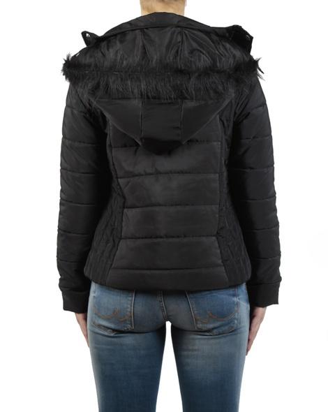 Short puffer jacket black back