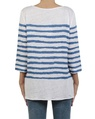 Painted stripe boatneck white royal back copy