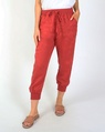 Thea jogger pant red A