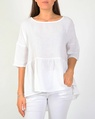 Gauze pelum top white A