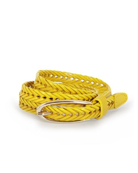 Ingrid Leather belt mustard