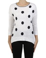 Spots + stripes pullover white navy front copy