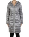 Galaxy puffer jacket grey silver front zipper copy