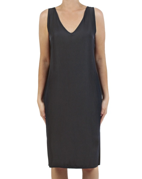 Kendall Dress charcoal front