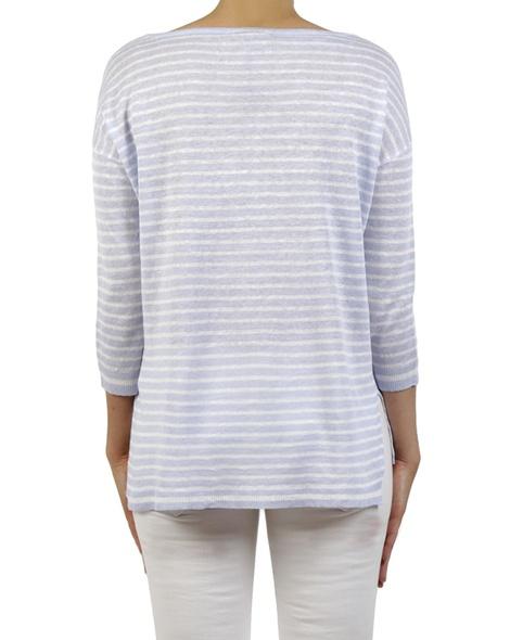 Simple stripe pullover lavender back copy