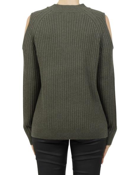 cold shoulder pullover khaki B