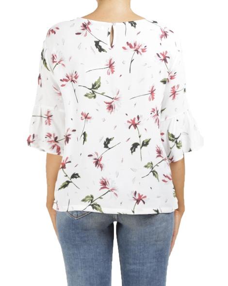 floral sia top white B