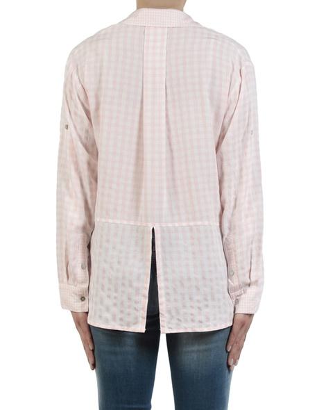 Gingham multi shirt pale pink back copy
