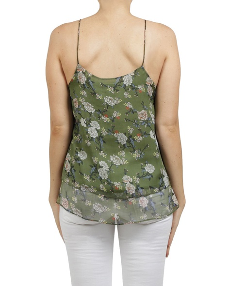 floral catherine singlet green B