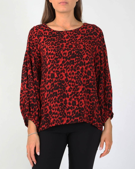 Leopard steffi top red (1)