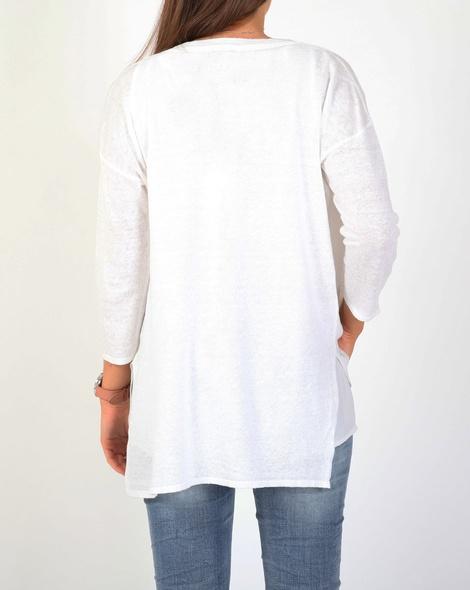 V neck cardi cardi white B