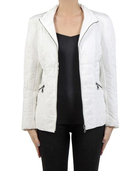 Sport Luxe Puffer Jacket ecru front copy