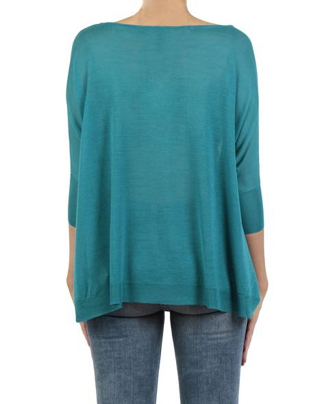 Atlas knit teal back