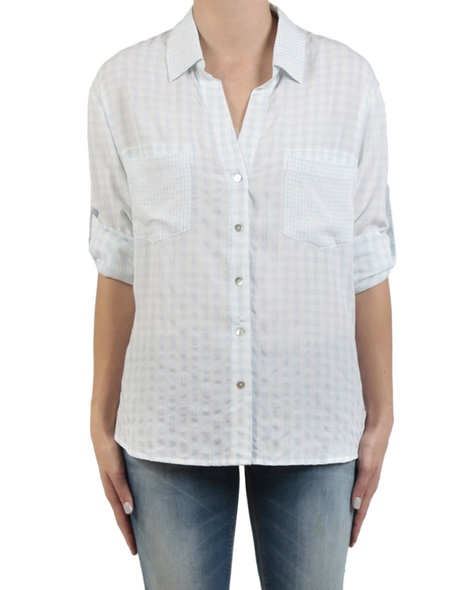 Gingham multi shirt sky front sleeves copy