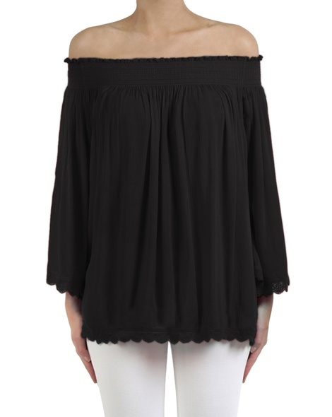 Marjorca top black front