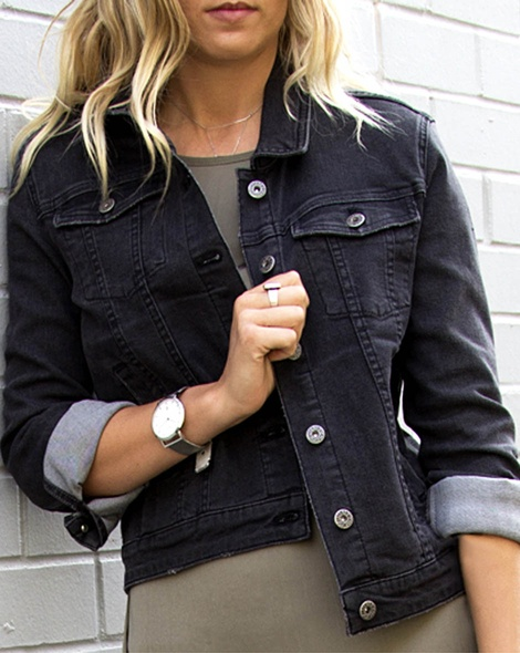 Blk denim jacket Allegra dress khaki (67)cropped
