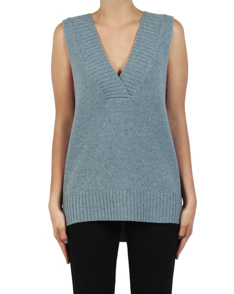 Leona Vest Duck egg front B copy