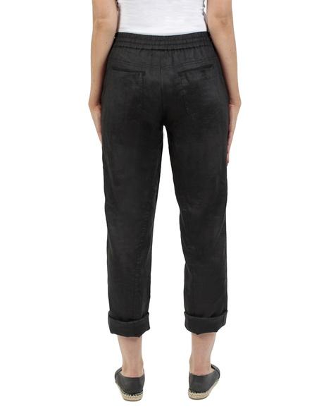 Elliot linen pant black back rolled copy