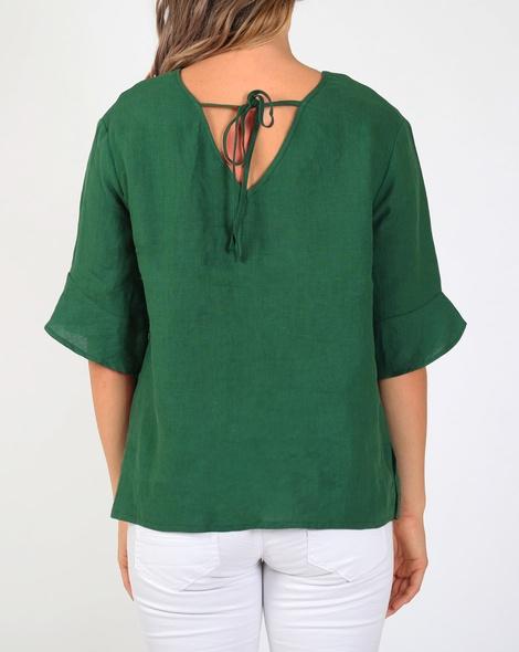 Jessie linen top green B