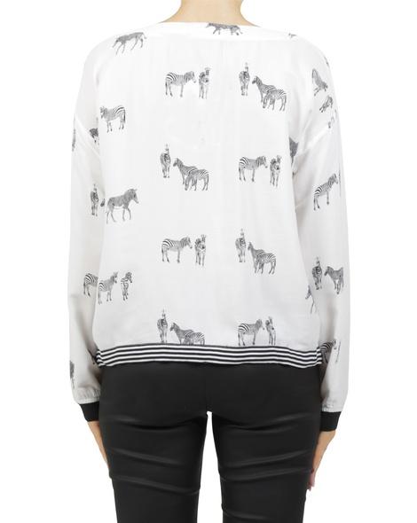 zebra delma top white B