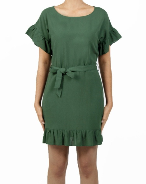 raven dress green A col switch