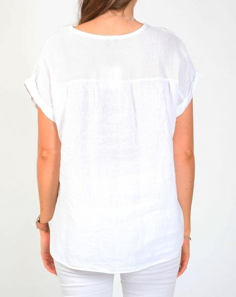 Havana linen top white B
