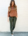 Shimmie knit + waterfall pocket jean olive (8)
