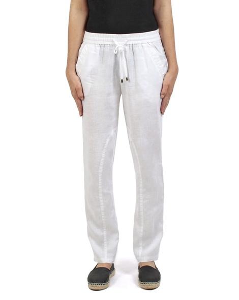 Elliot linen pant white front copy