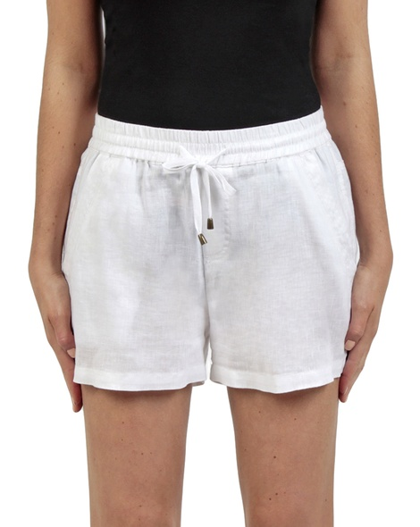 Tully linen short white front copy