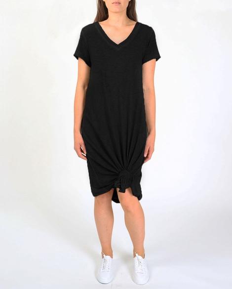 COTTON SHIRT DRESS blk
