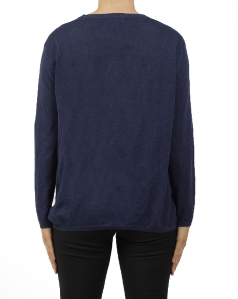 crew neck knit navy B