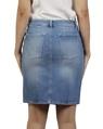 Distressed denim skirt B