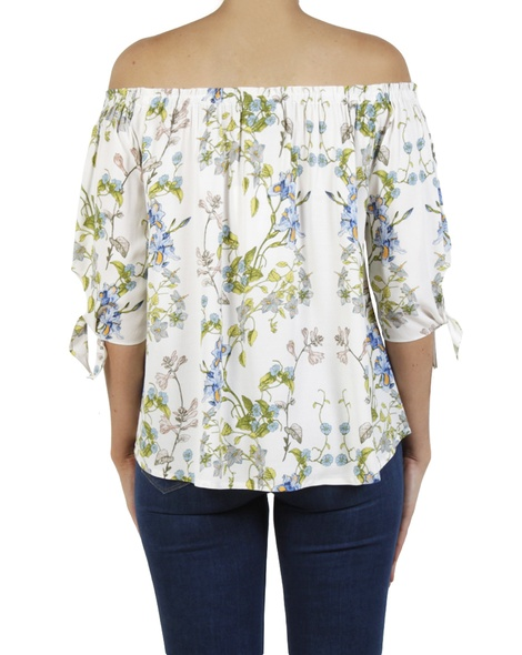 Floral milly top white B
