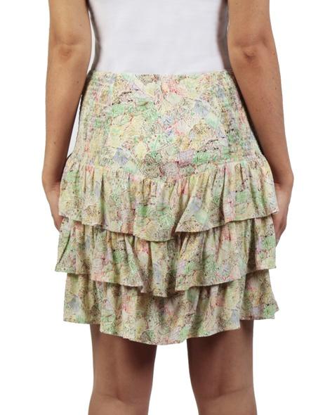 Sicily Posie Skirt yellow back