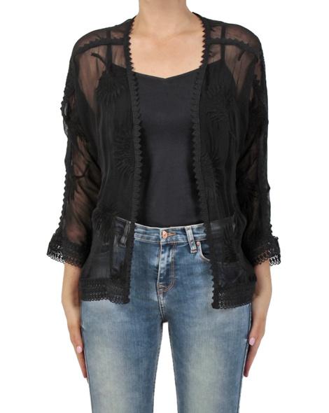 Carly kimono black front