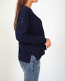 Tommie knit navy white C