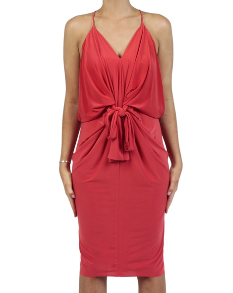 Hayden Dress red front bow