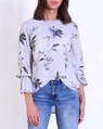 Sketch floral blouse A